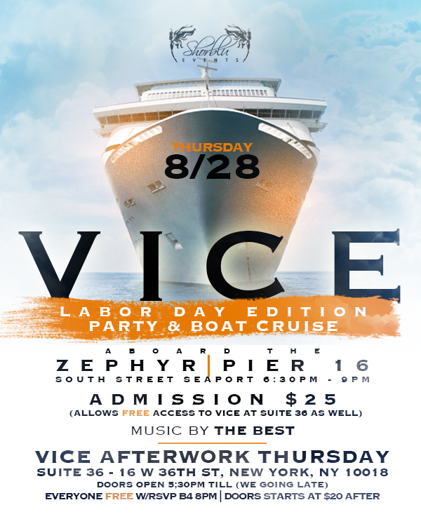 Vice Boat Cruise Flyer