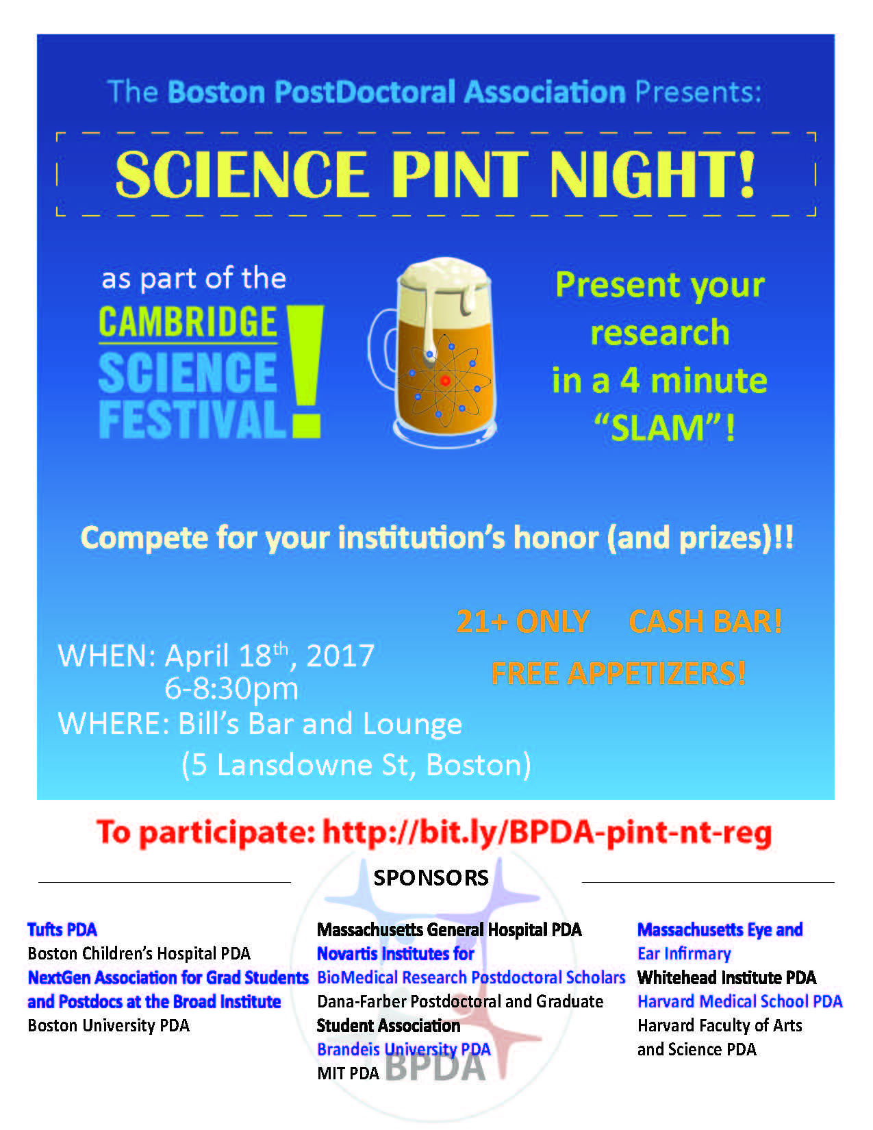 CSF-BPDA Science Pint Night 2017