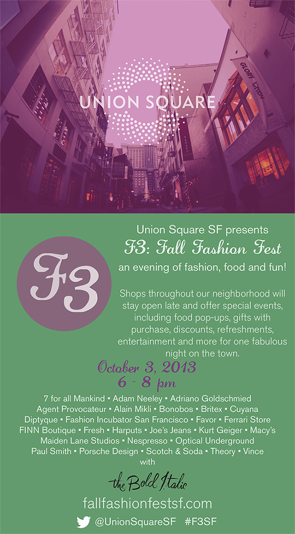 Fall Fashion Fest SF Flyer