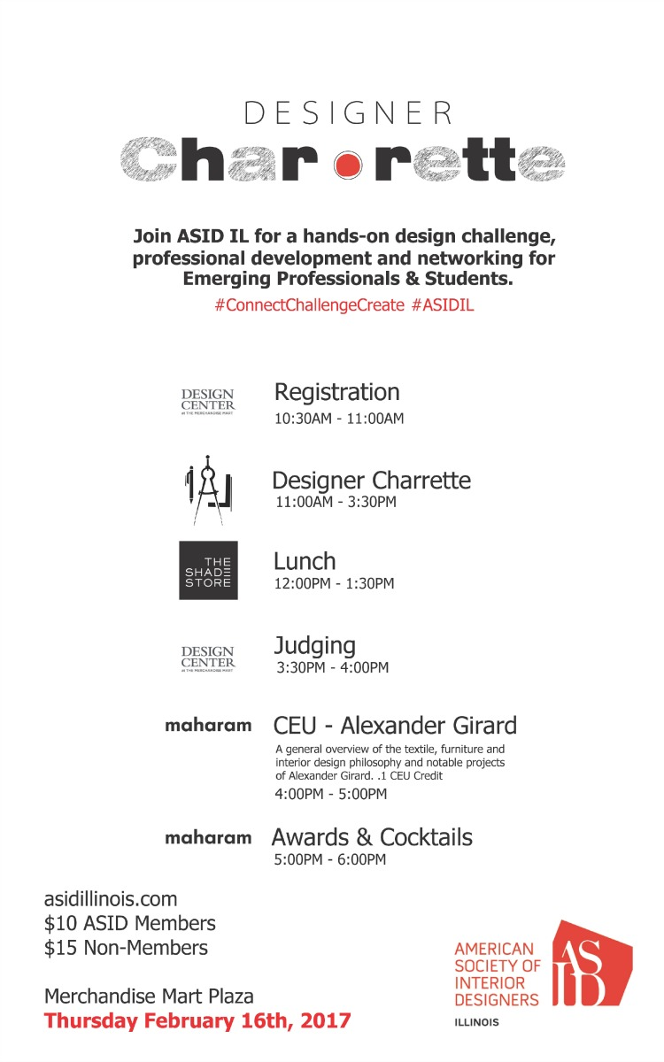Description What Is ASID IL DESIGNER CHARRETTE A One Day Interior Design Event Where The Goal To Rally Together Diverse Experiences Of Emerging