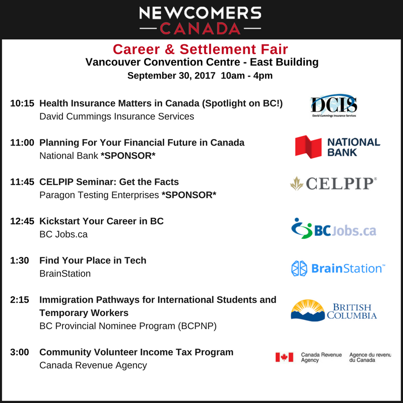 Newcomers Canada Fair Fall 2017