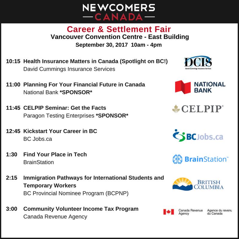 Newcomers Canada Fair Fall 2017