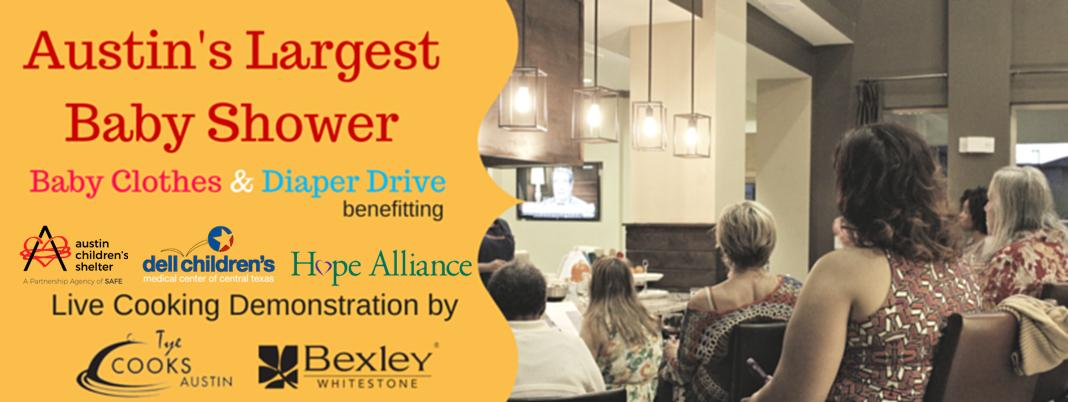 Baby Showers Bexley ~ Cooking demonstration with tye cooks austin baby clothes