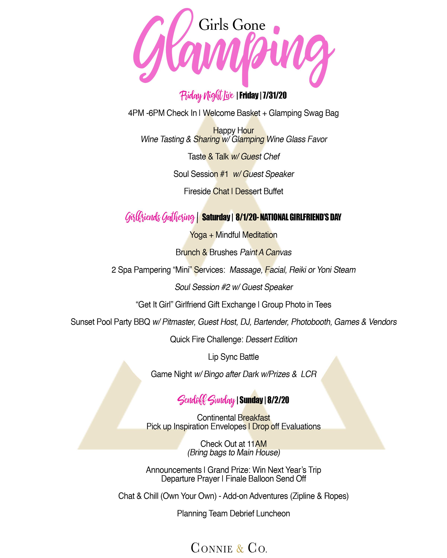 Glamping Girls Getaway 2020 Tickets Fri Jul 31 2020 At 4