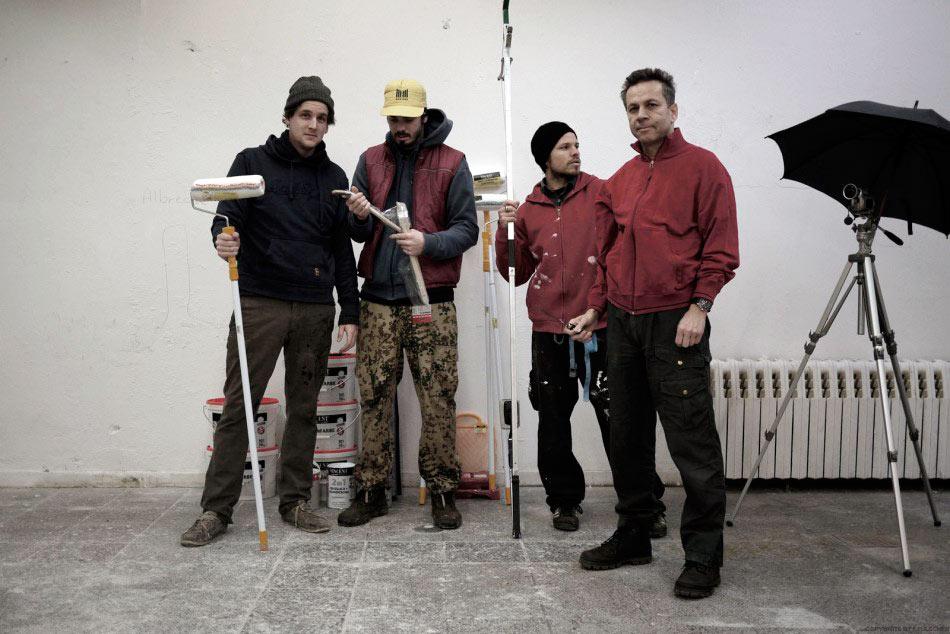 Team Kunsthalle: Daniel Stammet, Sebastain Omatsch, Florian Fülscher, Wolfgang Krause