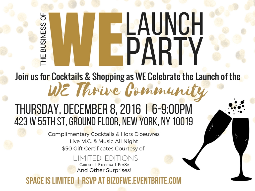 Business of WE Launch Party Invite