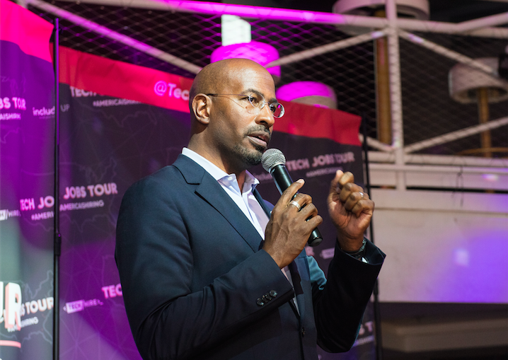 Van Jones at Tech Jobs Tour on Stage