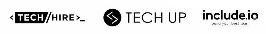 Tech Hire TechUP include.io Logos