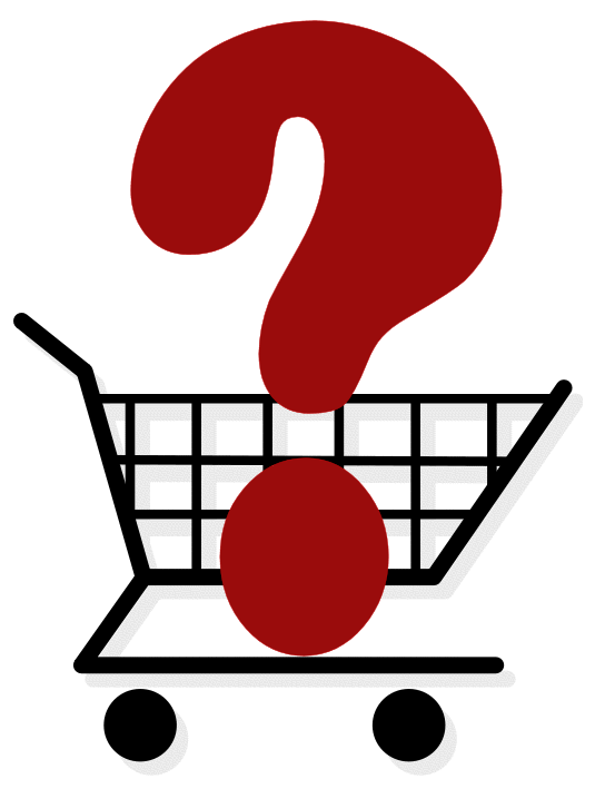 Question mark in cart