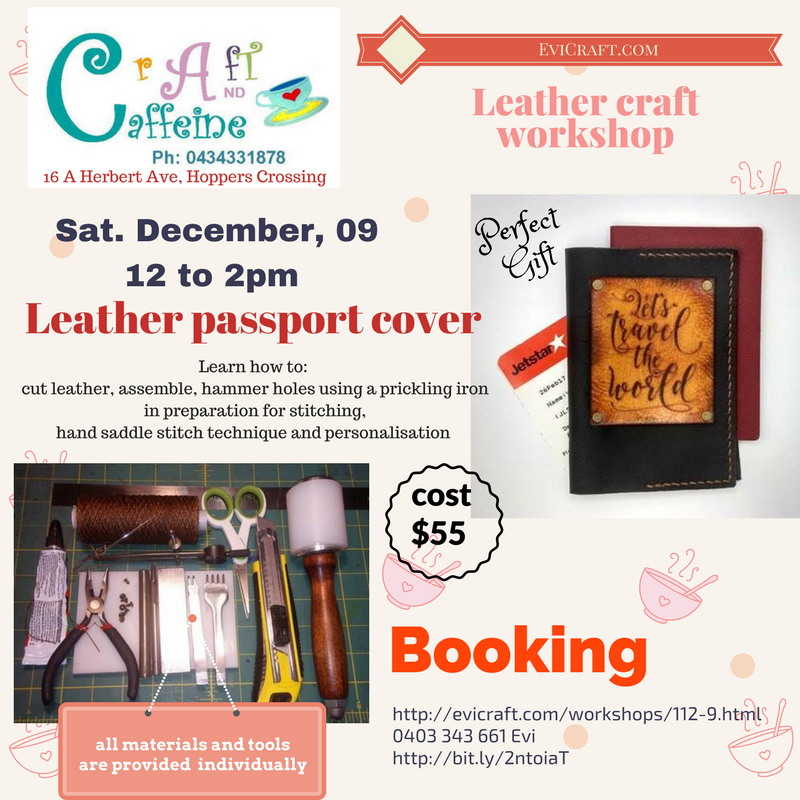 leather passport cover workshop