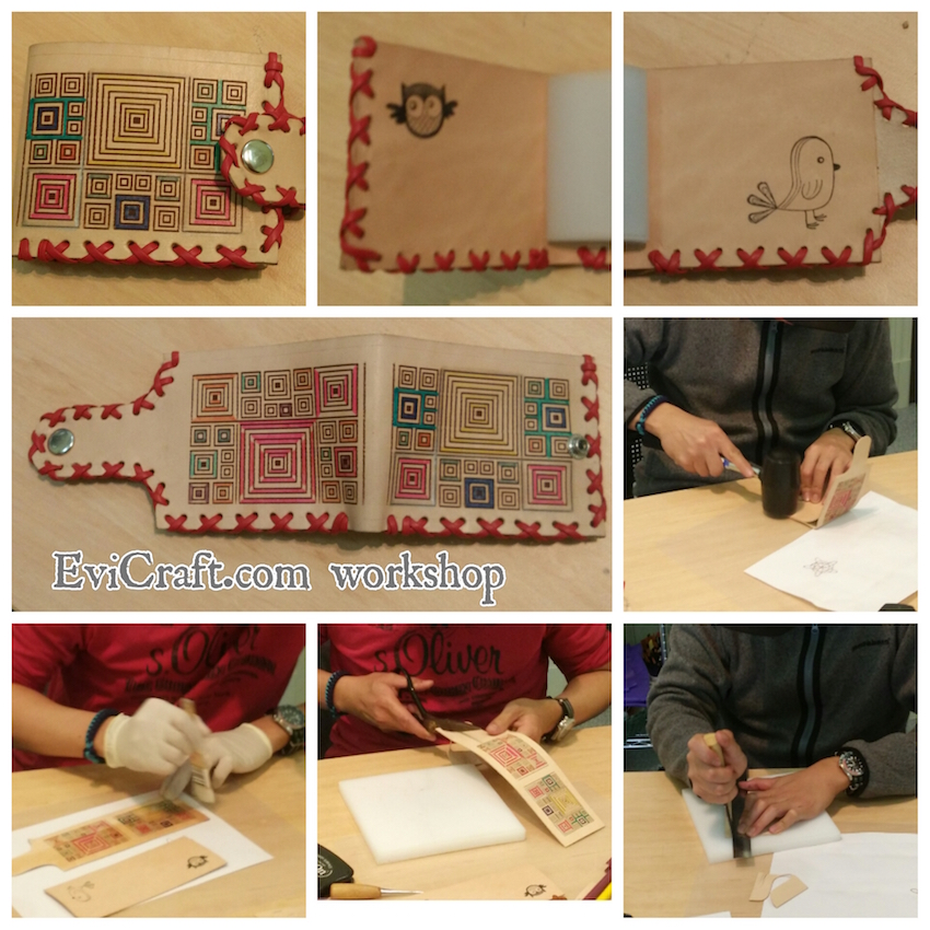 make your own leather wallet workshop