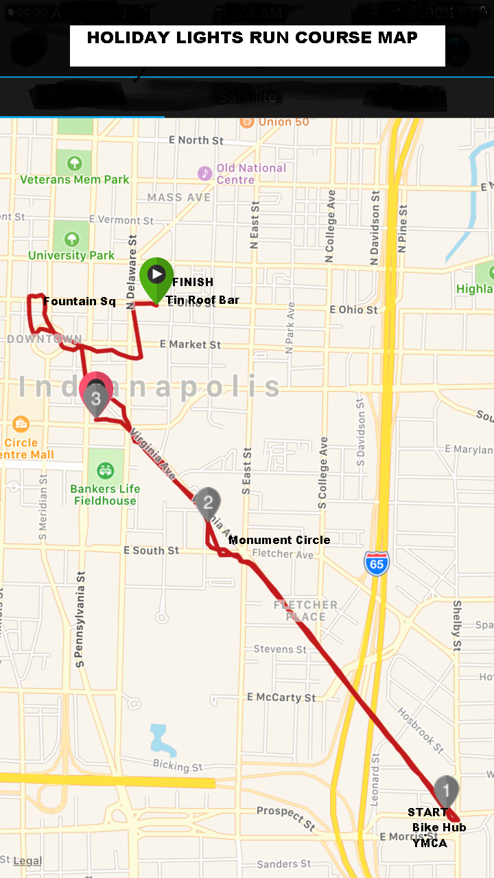 holiday run course map