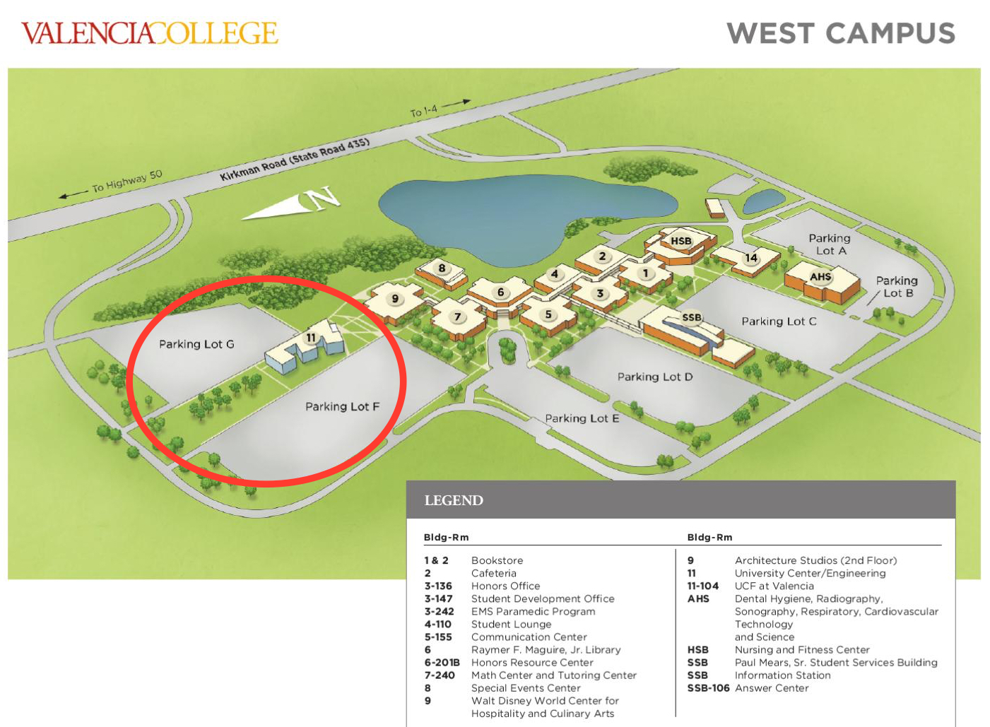 Valencia West Campus Map | World Map 07