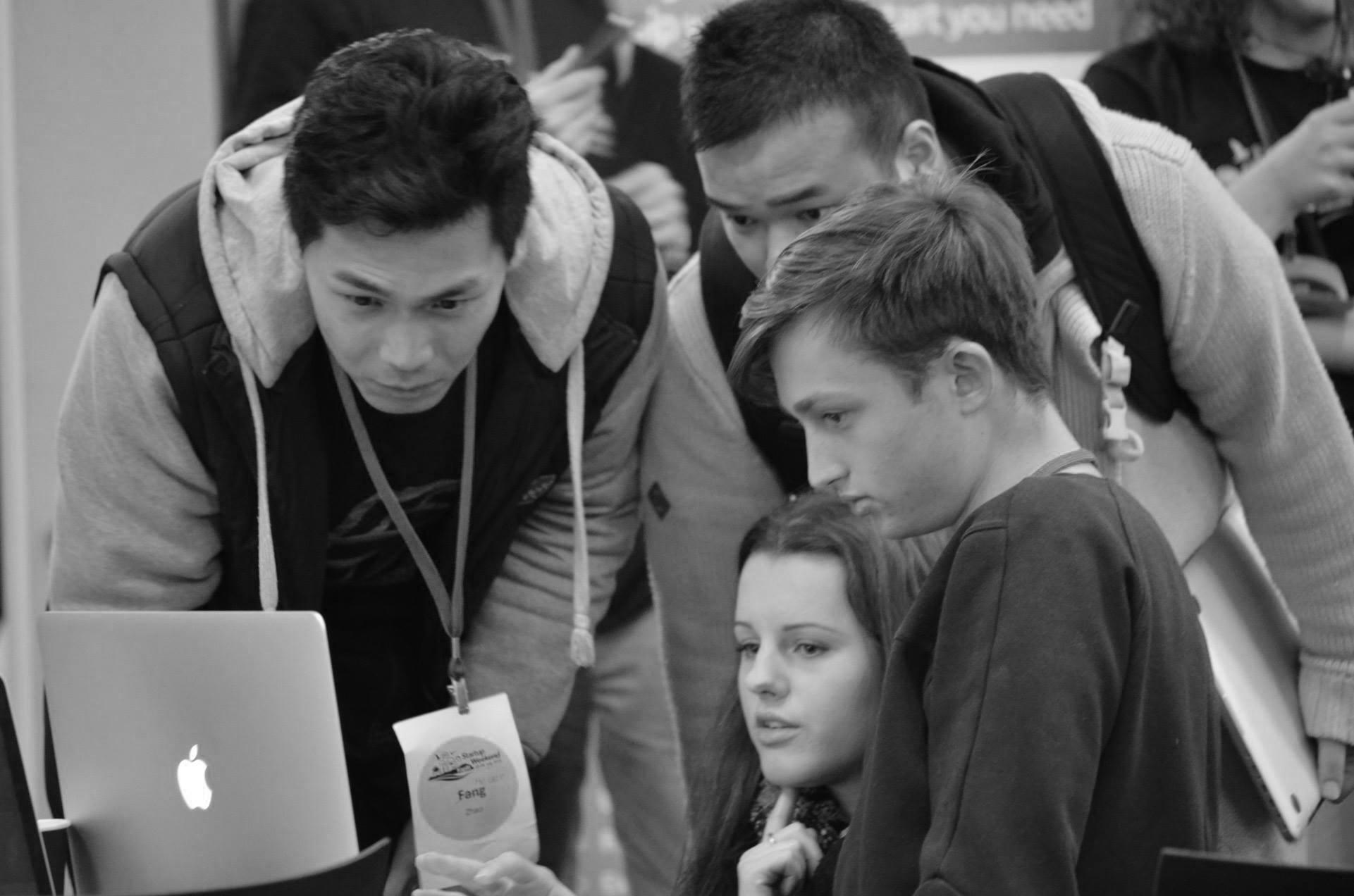 Team Working on Startup Weekend Idea