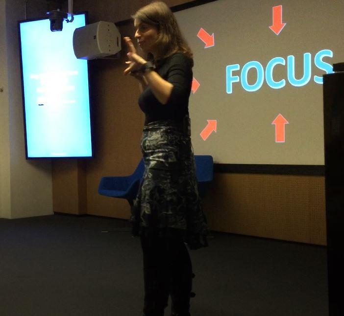 Mira Rutter speaking at Workshop