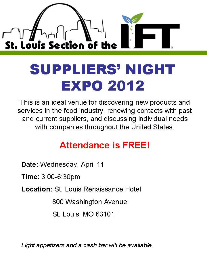 Suppliers Night Flyer