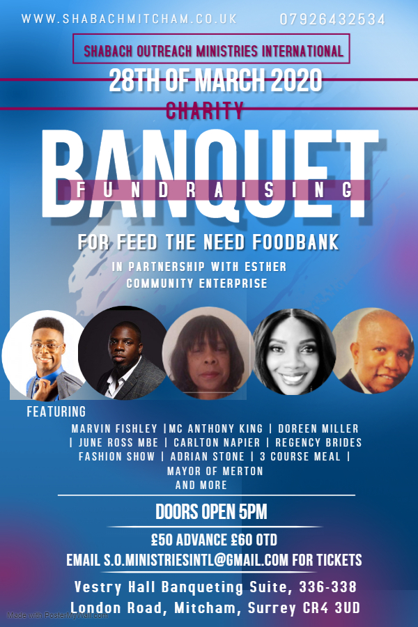 leaflet for feed the need foodbank with photos of performers