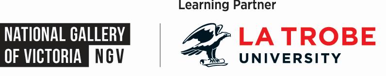 La Trobe and NGV logo