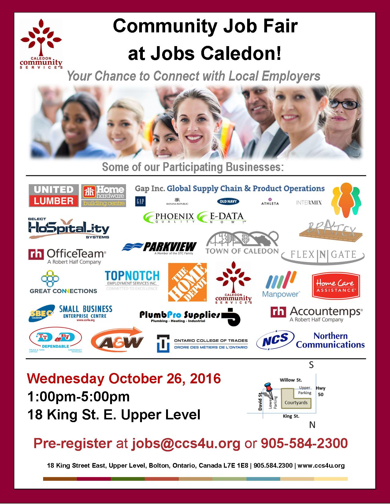 Jobs Caledon Multi-Employer Job Fair