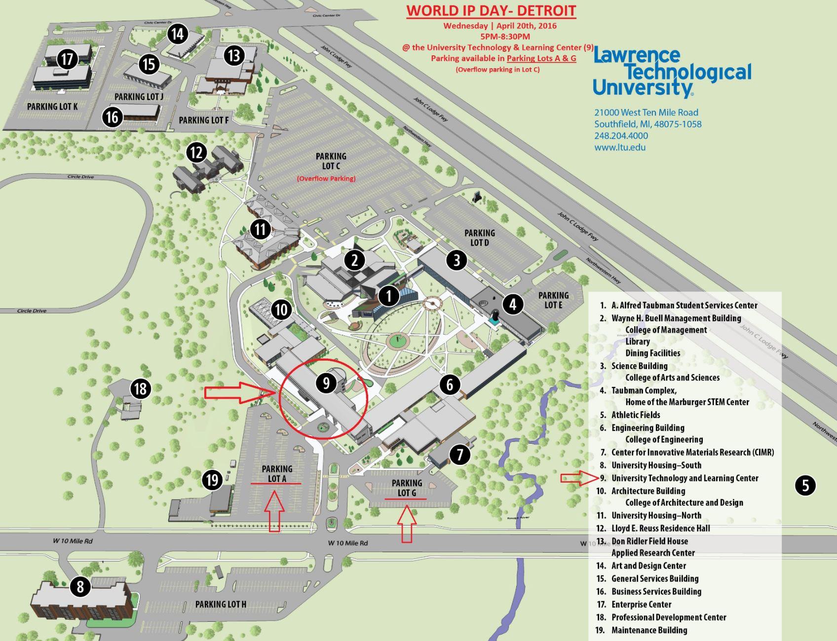LTU Map