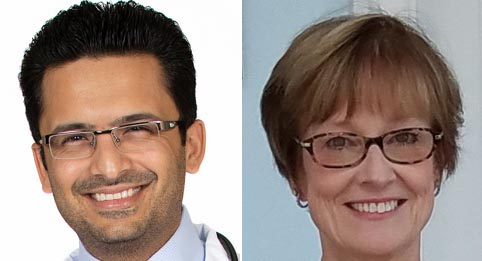 Dr. Choksey and Joanne Svogun