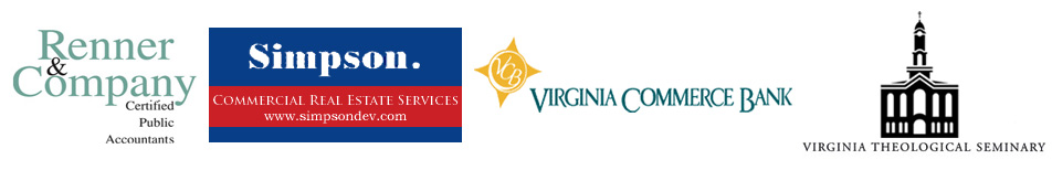 Sponsors are Renner & Company, Simpson Development Co. and Virginia Commerce Bank. Donor Virginia Theological Seminary