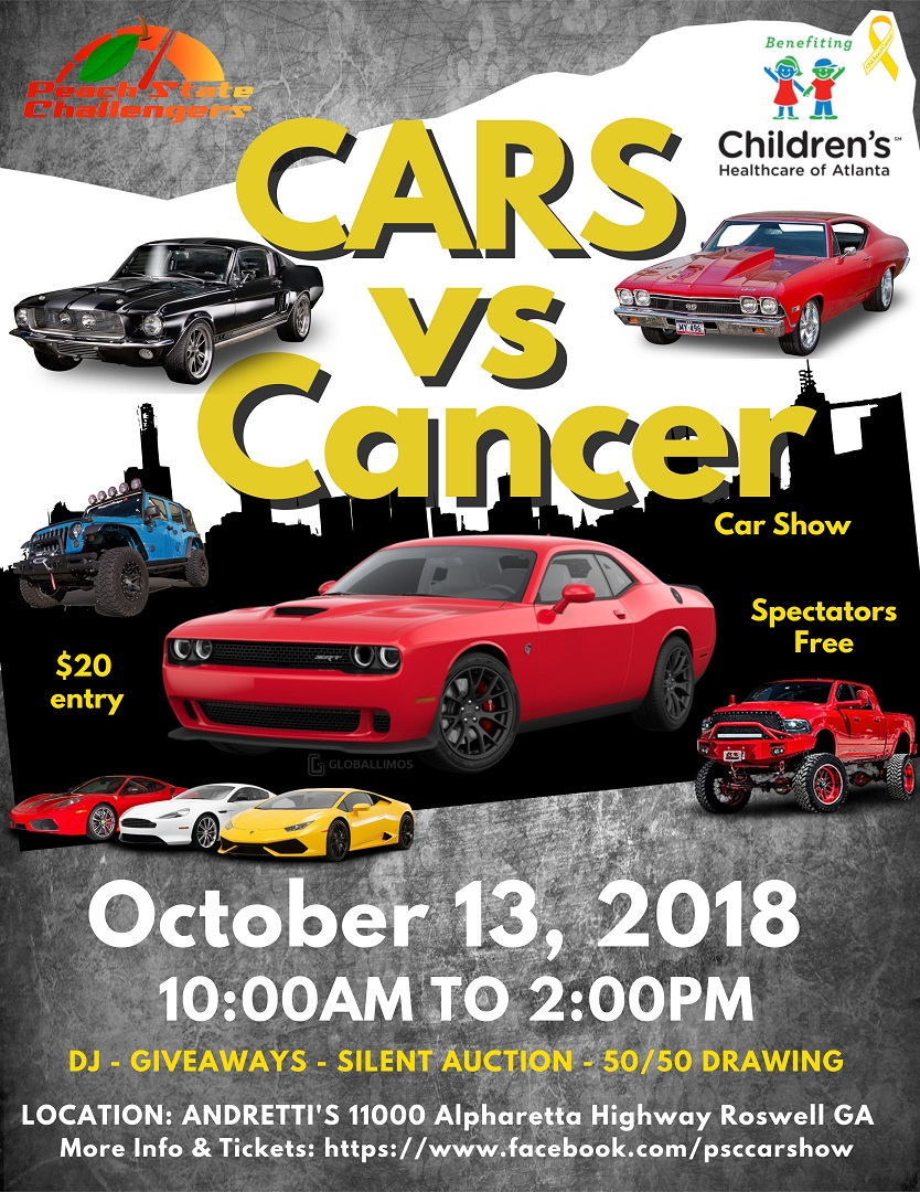 Cars vs Cancer flyer