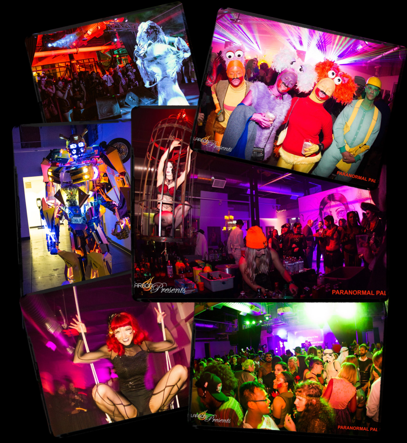 paranormal palace photo collage denver halloween
