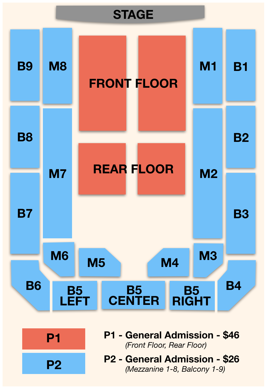 PMH Seating Chart
