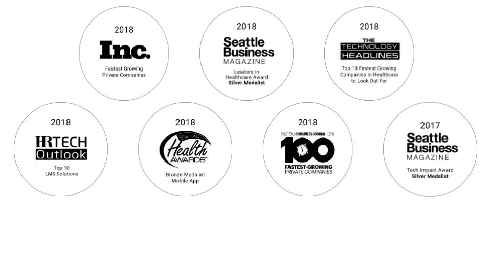 2018 awards received by MedBridge