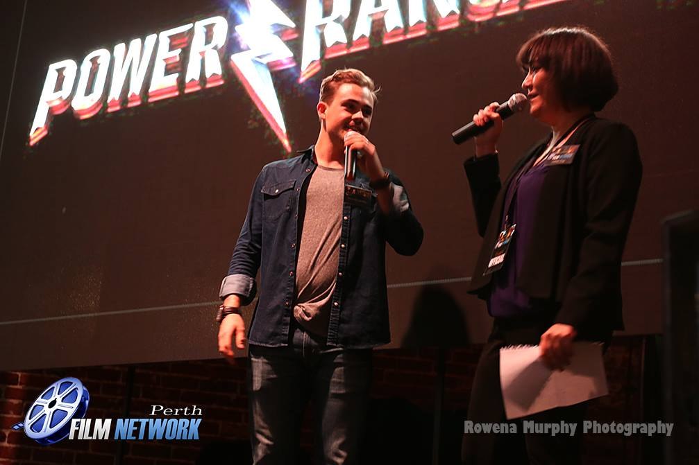 Dacre Montgomery from Power Rangers and Debbie Thoy