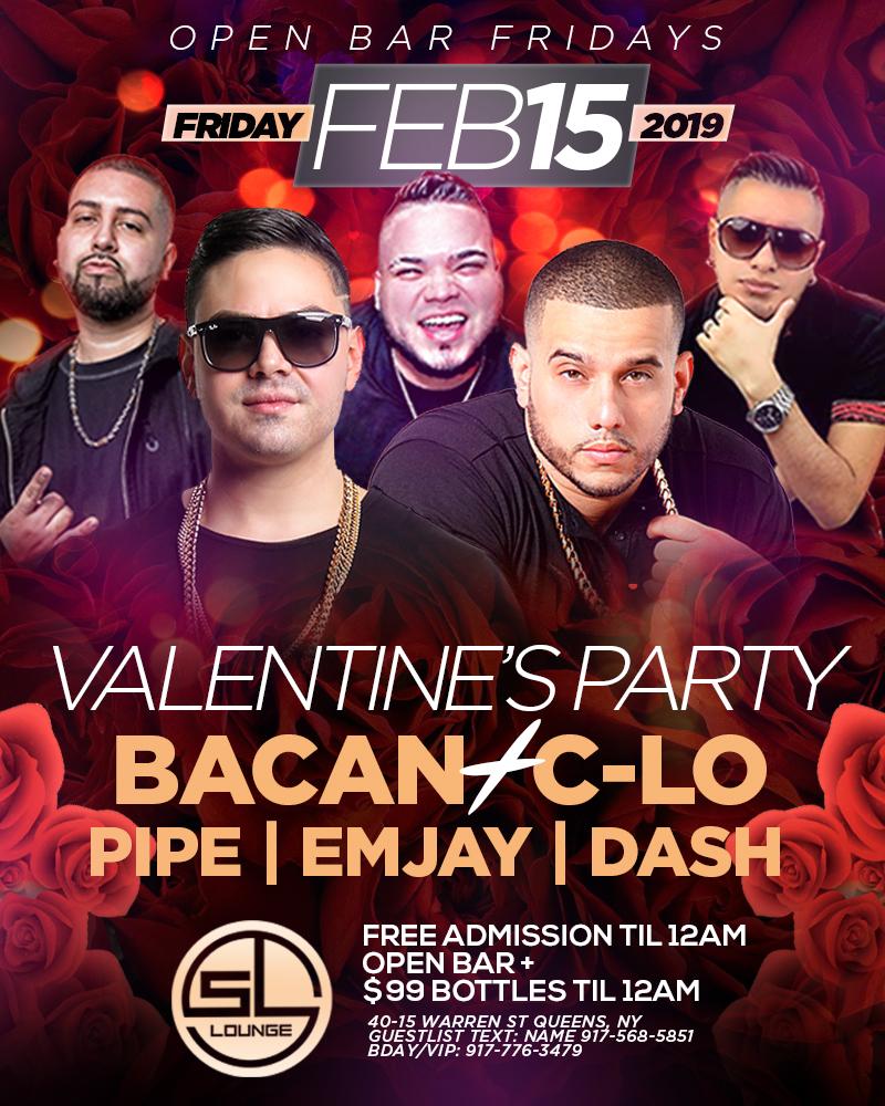OpenBarFridays Valentines Party FREE Admission Open Bar 99