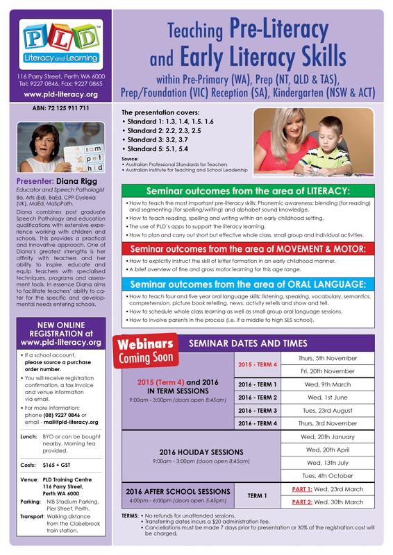 Pre literacy flyer
