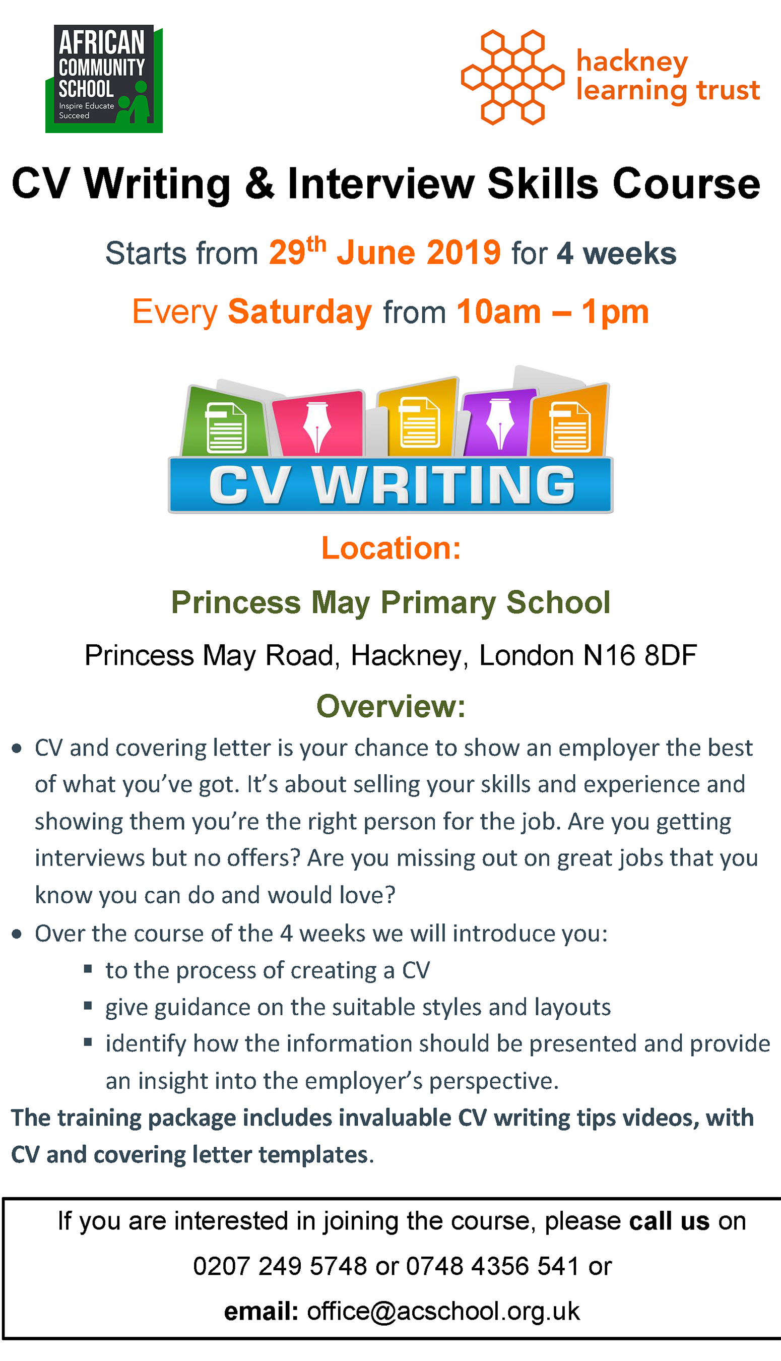CV Writing Flyer