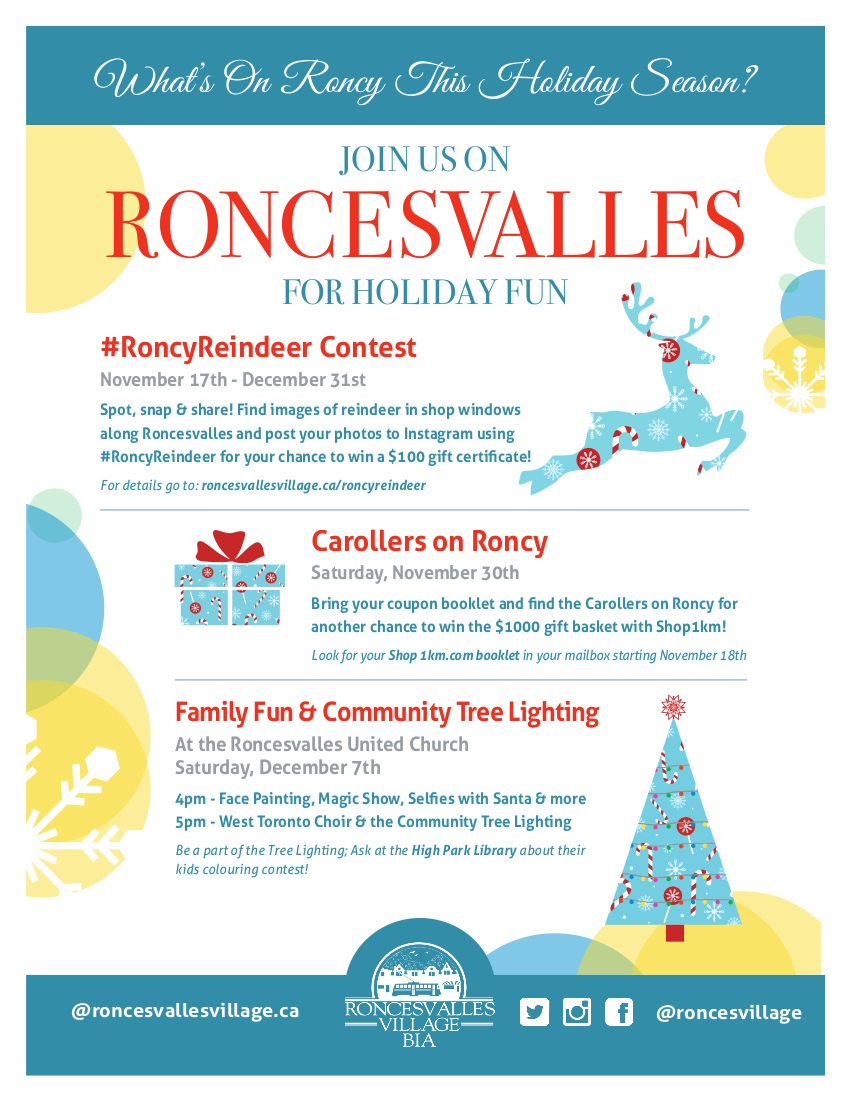Whats On Roncy this Holiday Season