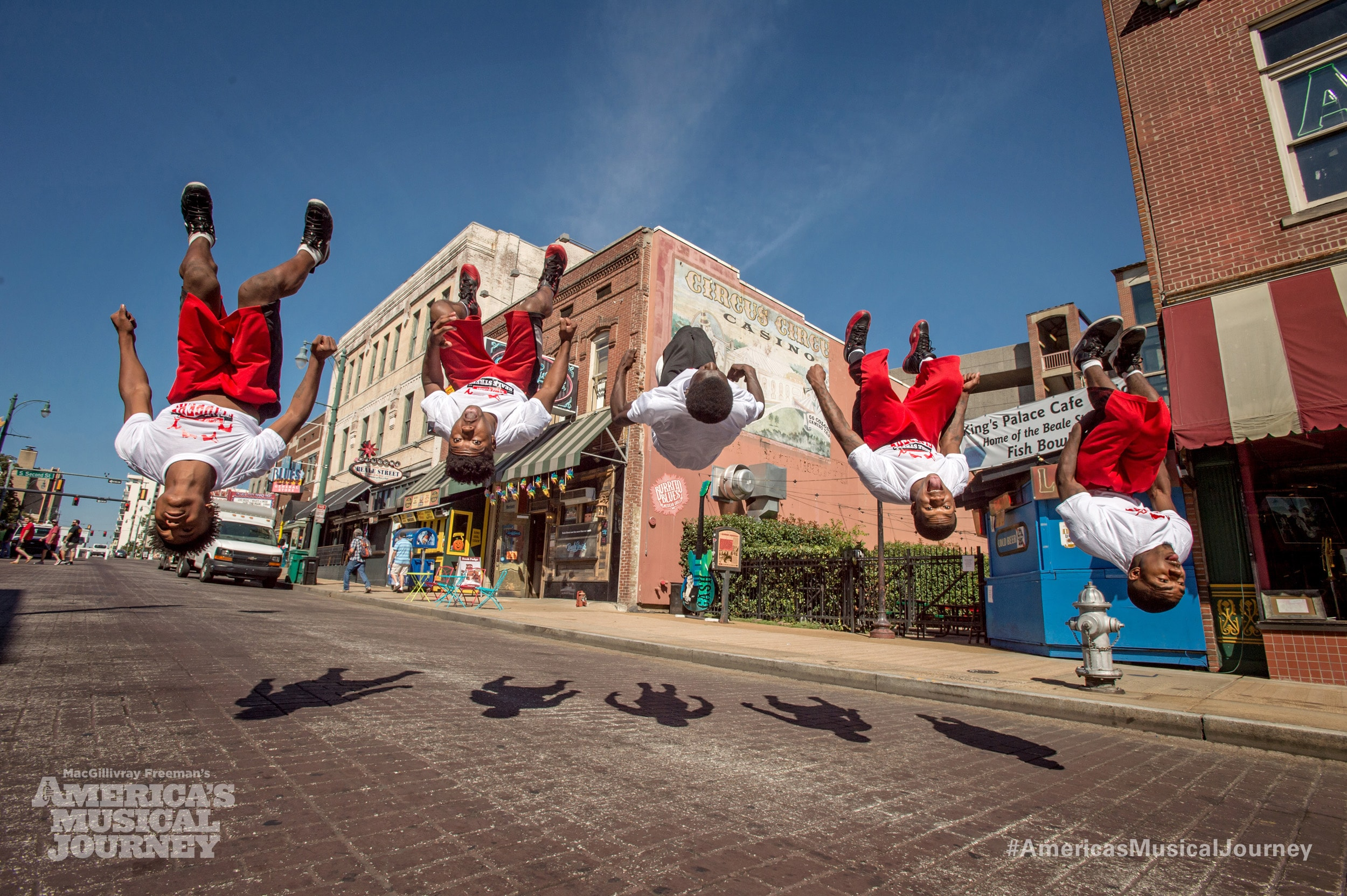 Street Dancers Backflipping