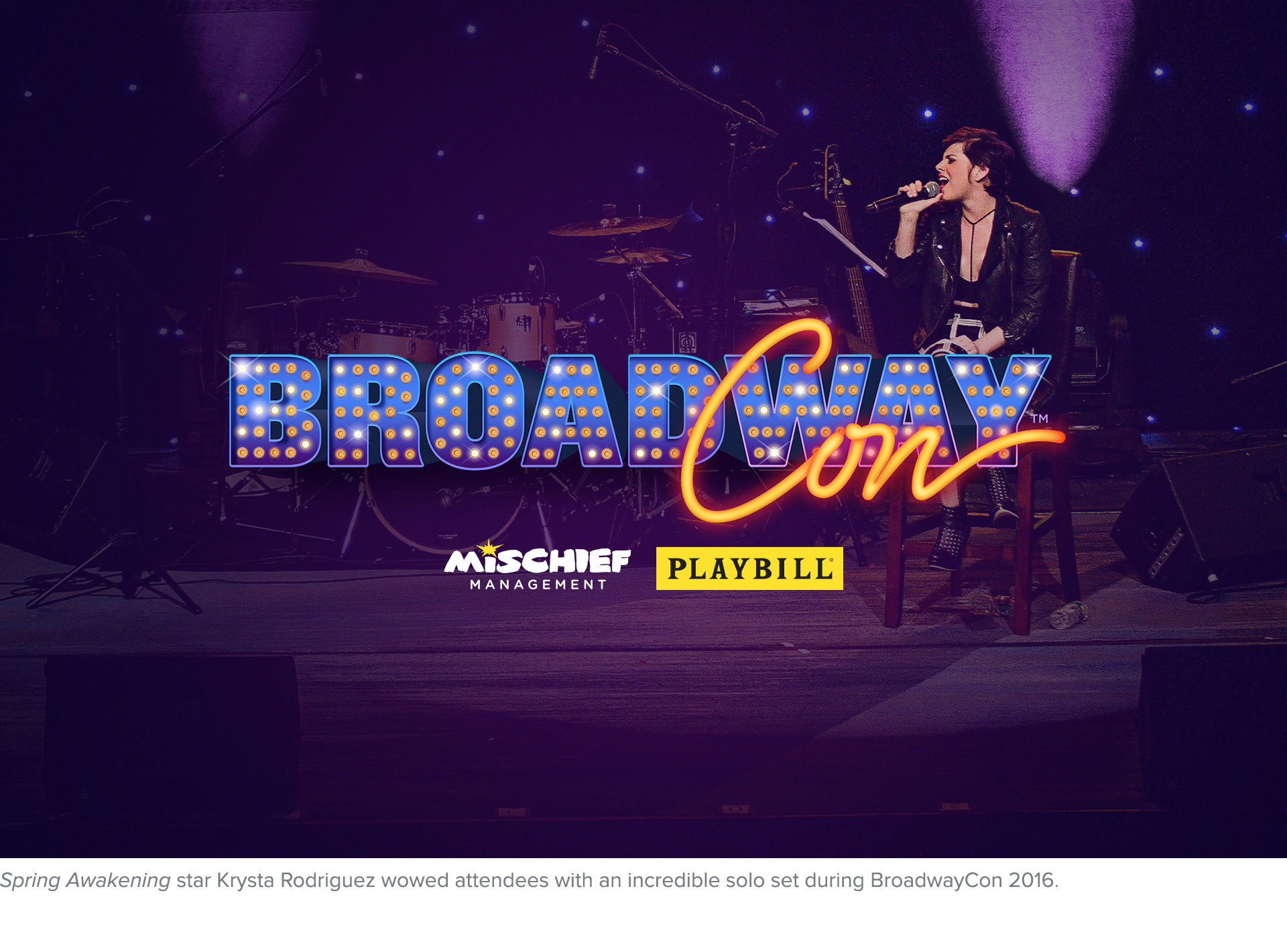 Spring Awakening star Krysta Rodriguez wowed attendees with an incredible solo set at BroadwayCon 2016.