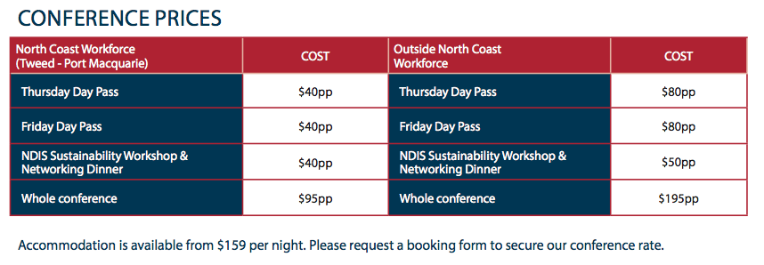 Conference Prices
