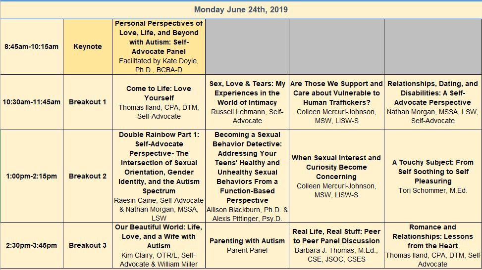 Monday June 24th Breakout Sessions