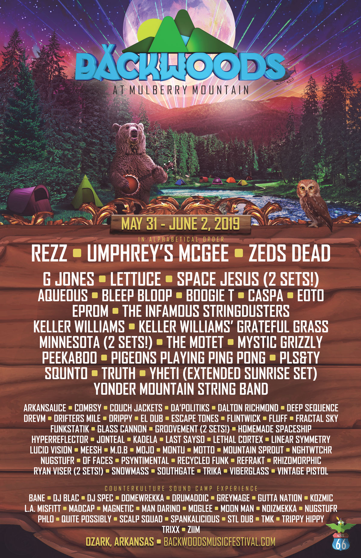 Backwoods 2019 Complete Lineup!