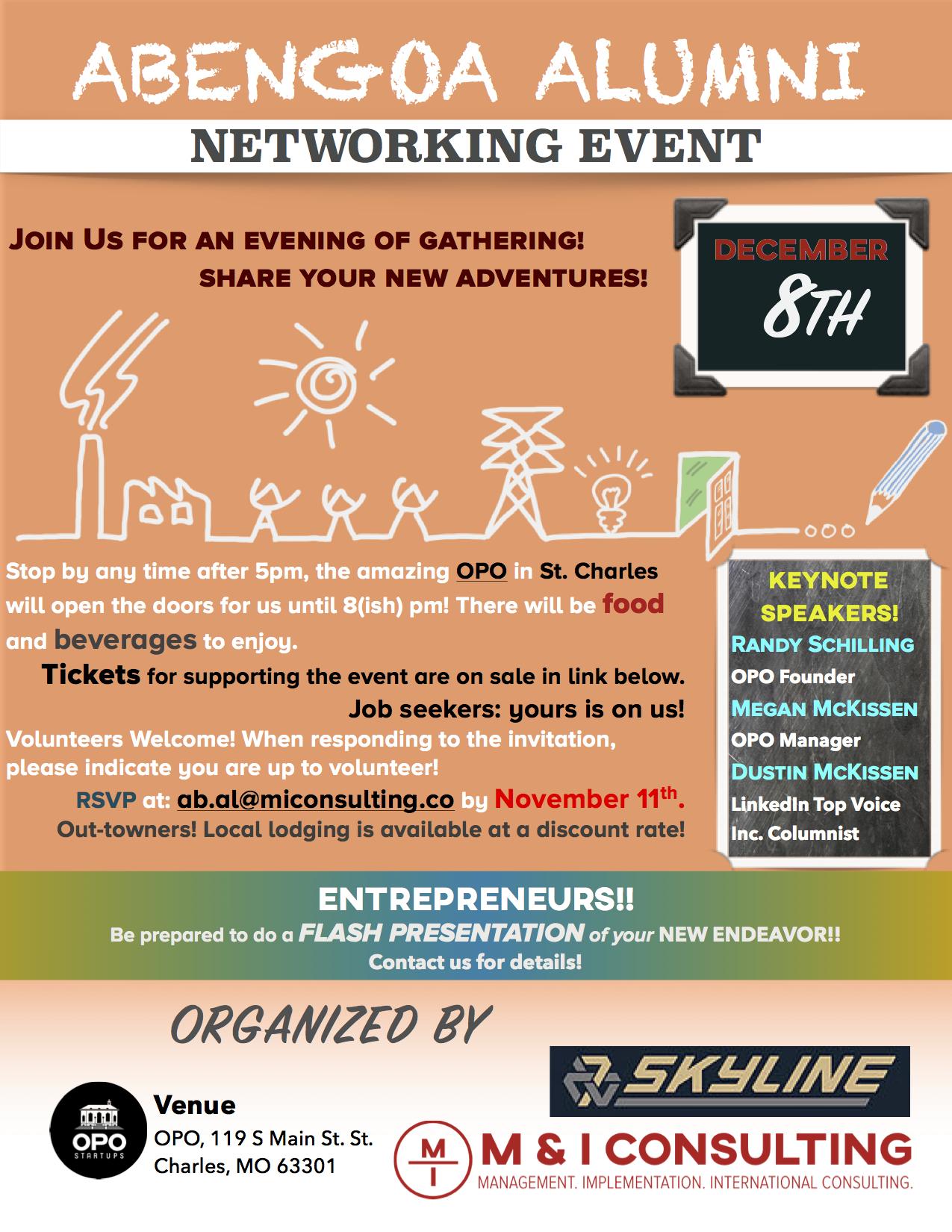 Abengoa Alumni networking evening