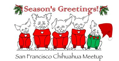 SF Chihuahua Meetup Holiday Logo