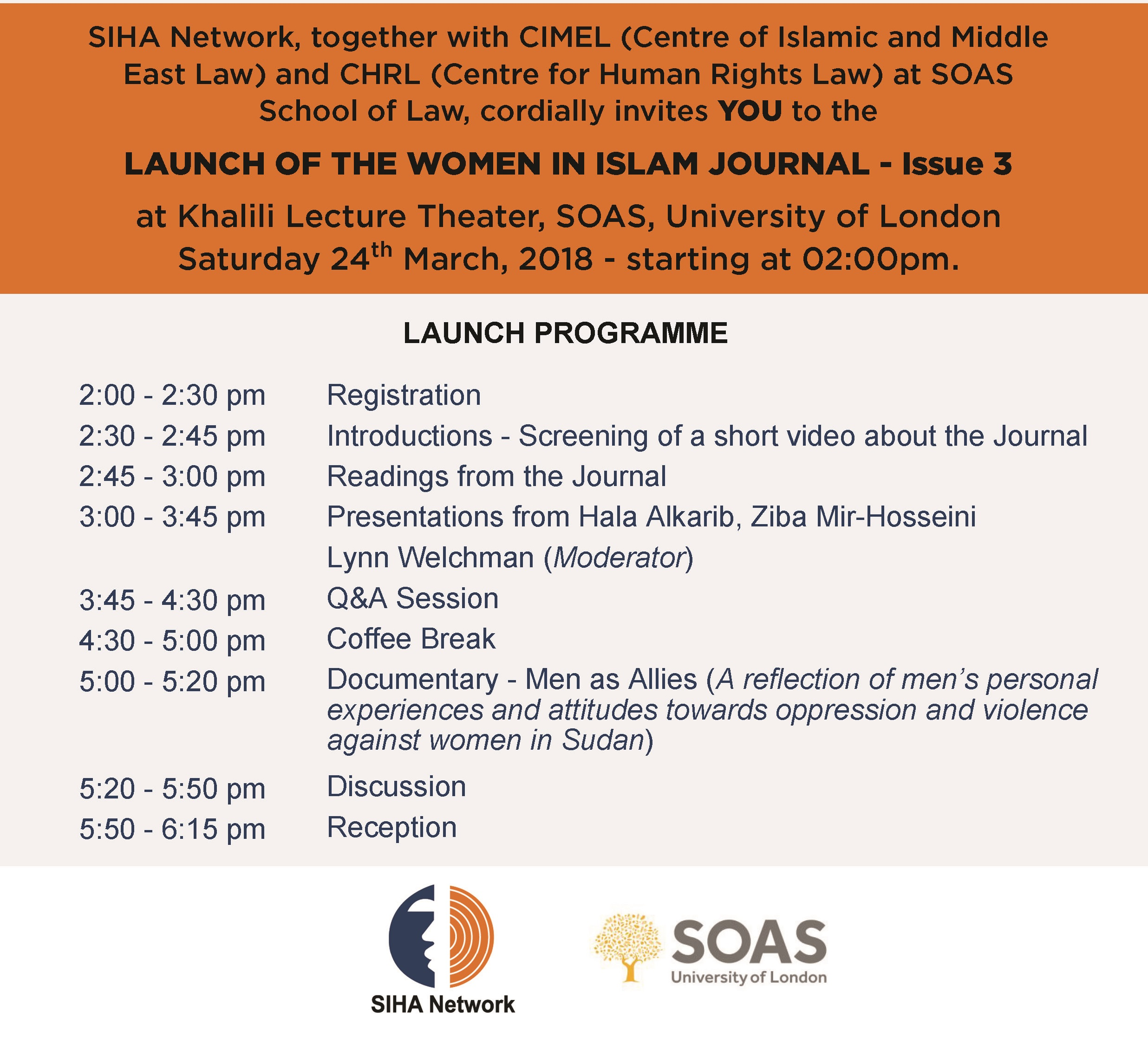 Launch of the Women of Islam Journal - Issue 3