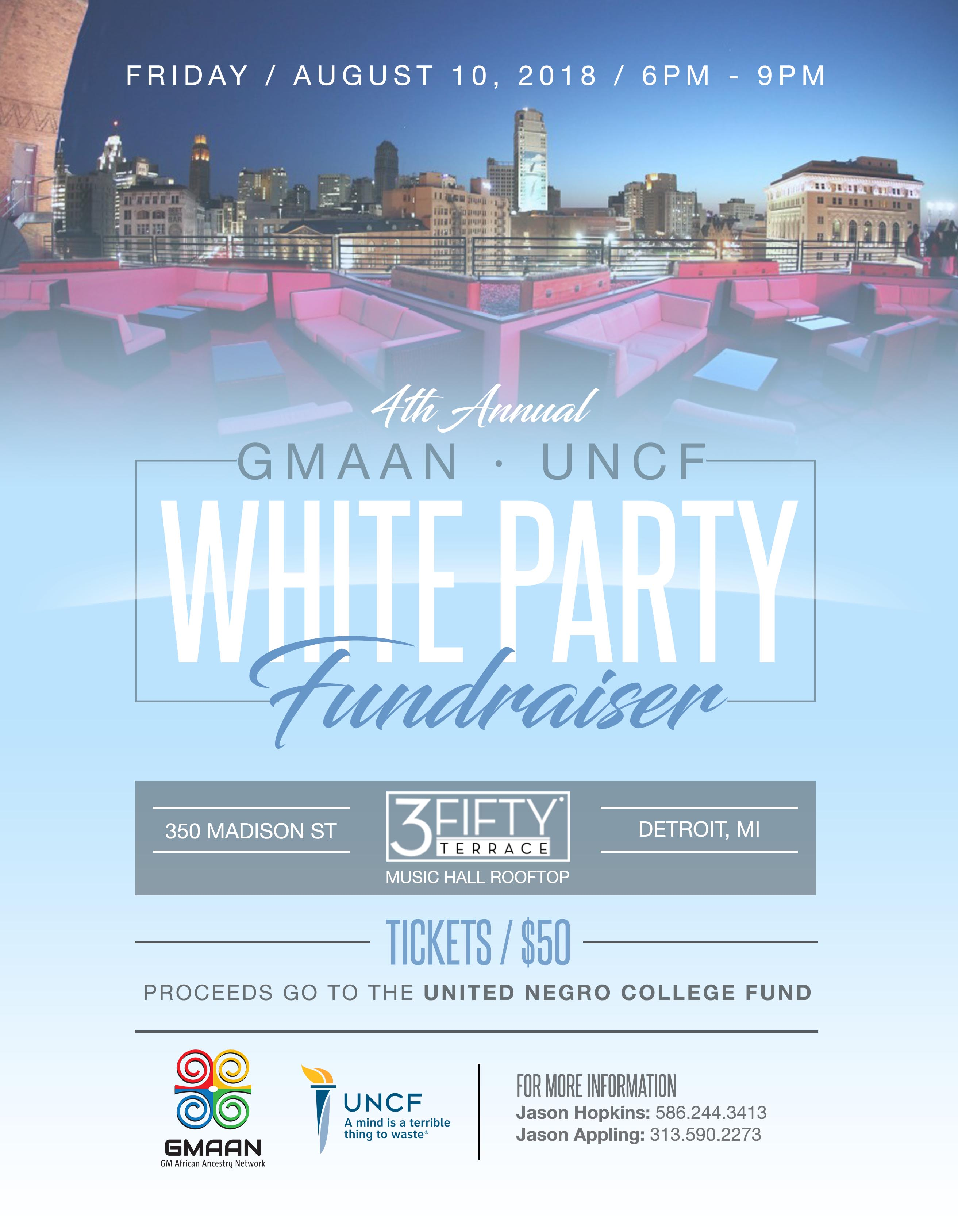 UNCF WHITE PARTY