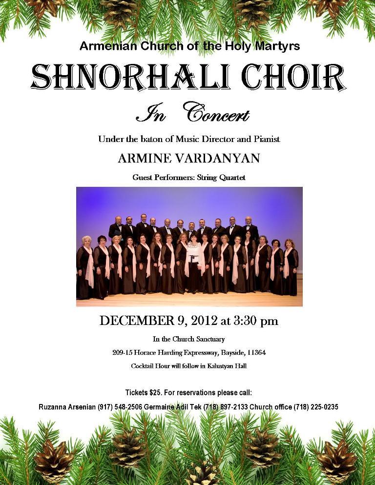 Shnorhali Choir In Concert