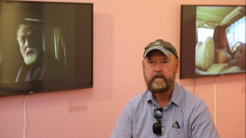 Gary Hillberg In Conversation at Shepparton Art Museum, February 2017. Image courtesy SAM.
