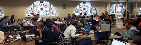 A view of the hackathon