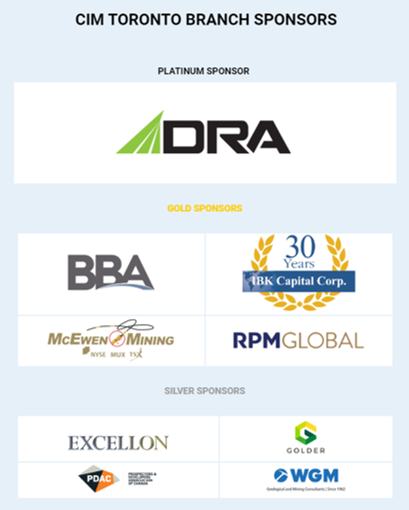 CIM Toronto Branch Sponsors