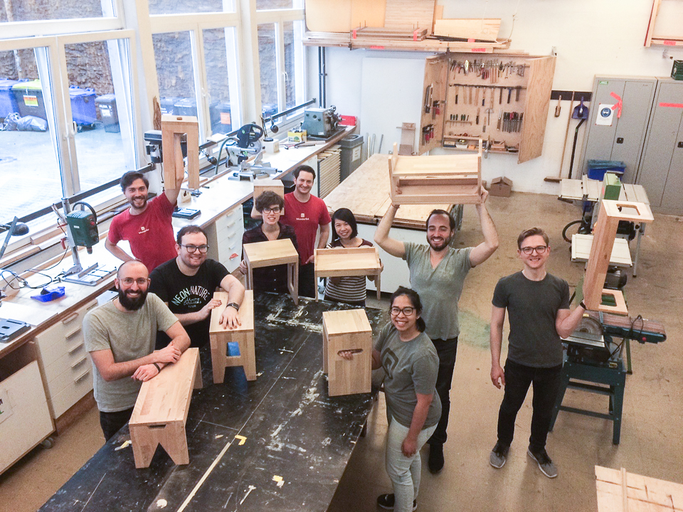 Build Your Own Hocker Woodworking Course - Group Photo