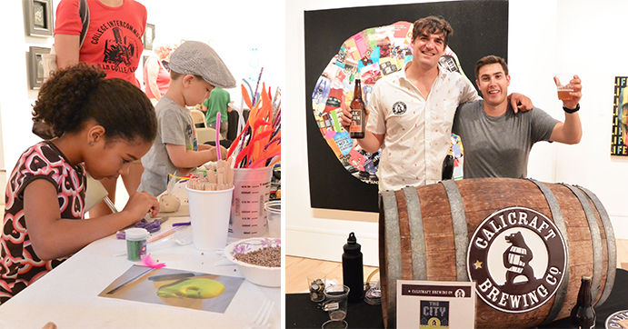 Art activities for all ages and craft beer tasting